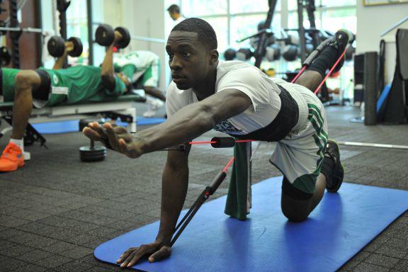 Green podczas wykonywanaia ćwiczeń